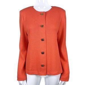 St. John Collection Orange Santana Knit Blazer 12